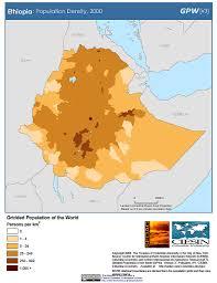 Map Of Ethiopia Maps Population Density Grid V3 Sedac