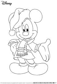 mickey disney christmas coloring kids
