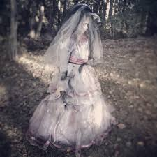 diy halloween costume zombie bride made out of a 19 dress and