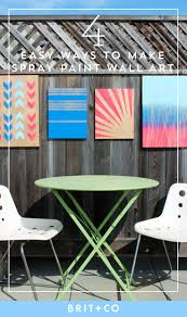 home is where the art is 4 simple ways to make spray paint wall