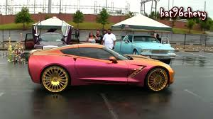 expensive pink cars outrageous pink gold u002716 stingray corvette on 22