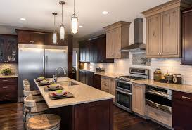 kitchen two different colored cabinets kitchen design gallery