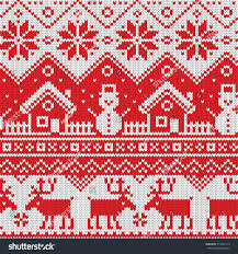 seamless pattern ornaments jacquard knitting image stock vector