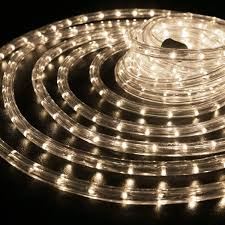 le 150ft 110 120v ac led rope lights kit 3000k warm