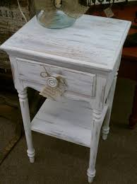 Distressed Table White Distressed End Table Tlsplant Com
