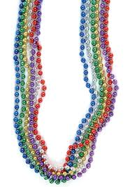 amazon com assorted color mardi gras throw beads package of 12