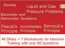 density solid and liquid pressure worksheets by will2share kam