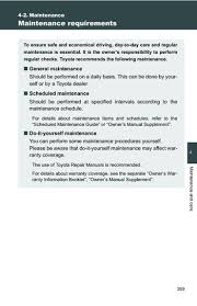 2011 toyota service schedule 2011 toyota camry maintenance pdf manual 7 pages