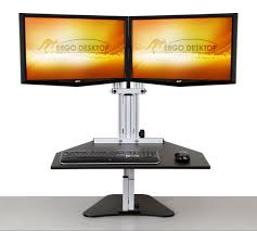 Desk Height Adjusters by Adjustable Height Desk Ergo Desktop Home Of The Best Ergonomic