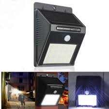 Led Solar Security Light With Motion Detector by 20 Led Solar Powered Pir Motion Sensor Wall Light Outdoor Security