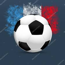 French Flag Background France Football 2016 Soccer Ball On A Blue Background French