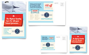 laundry services postcard template word u0026 publisher