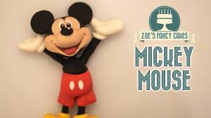 Mickey Mouse Cake Topper Tutorial Youtube