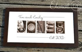 wedding gift letter adobe sunset architectural elements name print spell your last