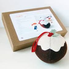 make your own christmas pudding craft kit by clara and macy
