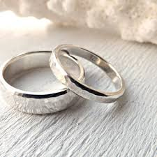 silver wedding ring sets hammered wedding ring sets products on wanelo