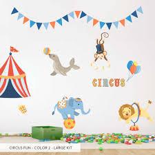 circus party wallums com wall decor circus fun color2 wall decal large