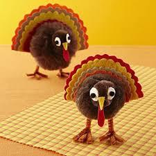 pom pom turkey craft thanksgiving crafts allyou