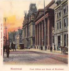 bureau de poste pr騅ost bureau de poste et banque de montréal post office and bank of