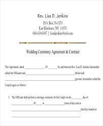 wedding contract template basic contract for wedding videography