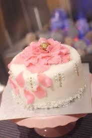 sparkling peony red velvet birthday cake