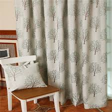 Blue Green Curtains Lime Green Curtains With Tree Patterns Are