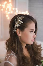 bridal hair pieces gold hair comb bridal jeweled headpieces hair pearl rhinesone gold