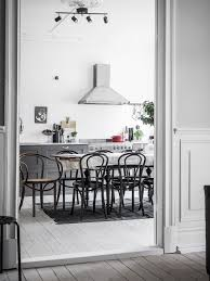 Kitchen And Dining Interior Design Grey Kitchen With Large Dining Area Coco Lapine Designcoco
