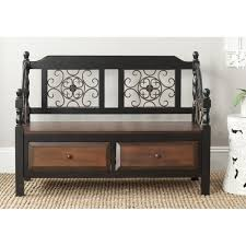 darby home co forrest wood storage bench u0026 reviews wayfair