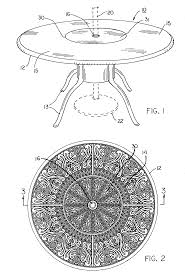 Umbrella Lazy Susan Turntable by Patent Us20050034638 Umbrella Table With Inlaid Turntable