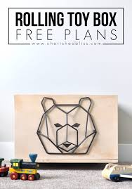 Free Plans To Build A Toy Box by Easy Rolling Toy Box Free Plans Cherished Bliss