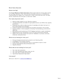 resume for retail sales associate objective duties and responsibilities of sales staff job description for a