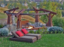 Fire Pit Globe by Craftsman Landscape And Yard With Gazebo By Ddla Design Zillow