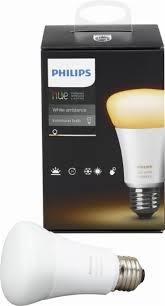 philips 468058 hue white a19 light bulbs 3 pack philips hue white ambiance a19 wi fi smart led bulb white 461004