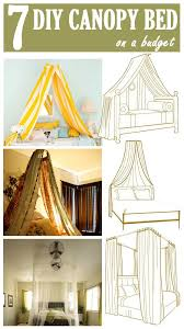 Girls Bed Curtain Best 25 Diy Canopy Ideas On Pinterest Canopy Light Canopy And