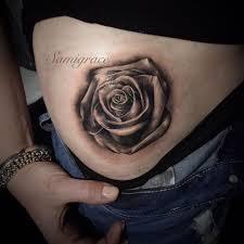 44 awesome hip rose tattoos
