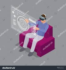 man sitting on sofa home wearing stock vector 543274795 shutterstock