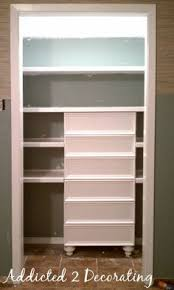Shallow Closet Organizer - cabinet handles under mounted for hangers in shallow closets