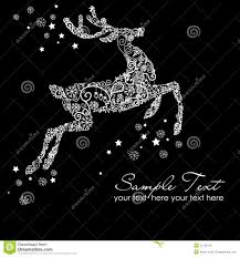 black christmas cards christmas card reindeer on black stock vector illustration of