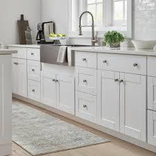 white kitchen cabinet knobs home depot everbilt 1 21 in satin nickel square cabinet knob 50 pack