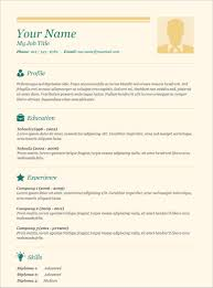 Resumes Templates Free Basic Free Resume Templates Job Sample Wordpad Cv Template Regarding