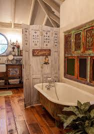 reclaimed wood divider shabby chic bathroom ideas with cool salvaged materials and wooden