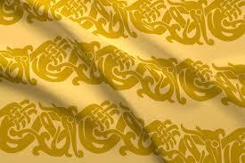 gold fabric merida brave celtic border gold fabric aimee spoonflower