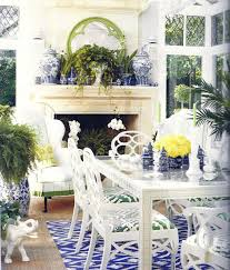 interior shabby chic french country dining room in white color