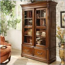 Barrister Bookcases With Glass Doors Barrister Bookcase Home Library Bookcase One Way Furniture