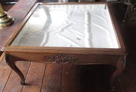 Glass Display Coffee Table Antique Glass Display Coffee Table With Key Reduced Again Coffee