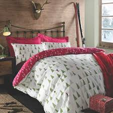 christmas quilt duvet cover with pillowcase bedding set xmas tree
