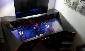 Awesome Computer Desks by Desk Cool Gaming Computers Desk Wood Construction Black Finish