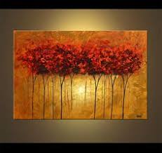 original abstract modern landscape made landscape abstract contemporary blooming tree painting acrylic