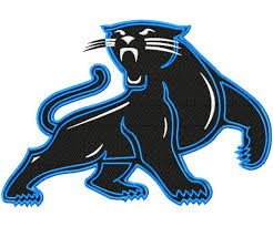 panthers logos machine embroidery design for instant